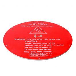 Круглая нагревательная платформа (стол) 3D принтера Delta (rostock)