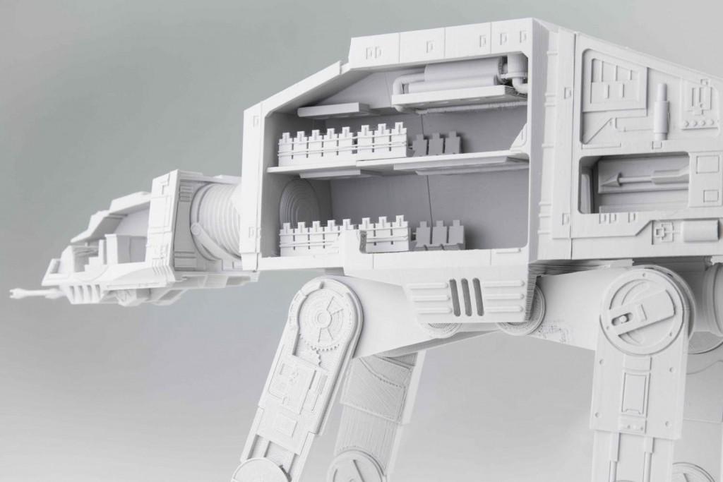 напечатанная на 3d принтере игрушка из здвездных войн
