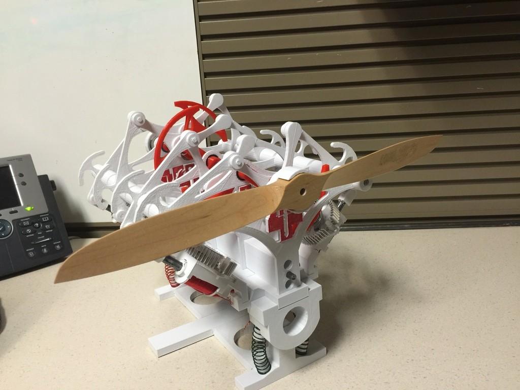 напечатанный на 3d принтере двигатель