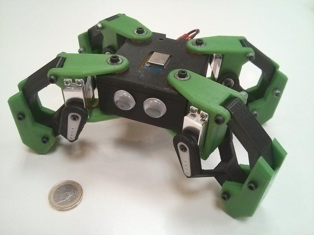 напечатанный pla корпус робота на 3д принтрах украинскких