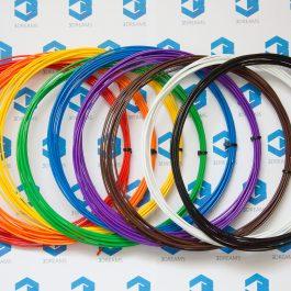 Пластик для 3D ручки ABS (набор 9 цветов) диаметр 1.75мм