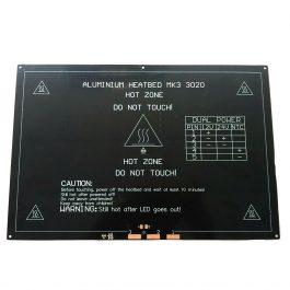 Нагревательная платформа (стол) 3D принтера 30 х 20 см MK2A